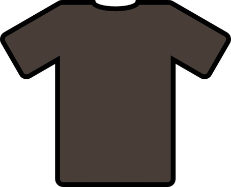 Brown T Shirt clip art