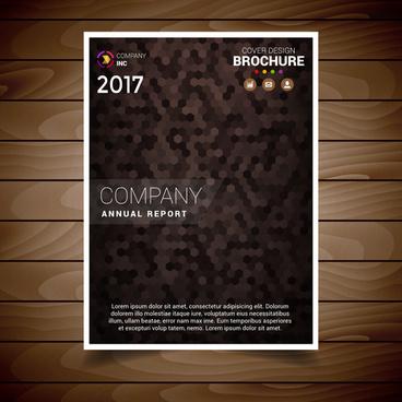 brown textured brochure design template