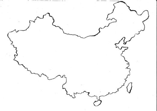 brush line hook map of china wireframe definition picture