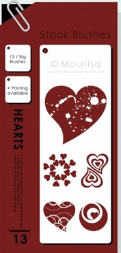 Brush Pack – Hearts