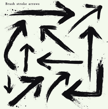 brush stroke arrows design vector
