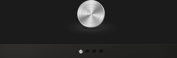 Brushed Metal Knob