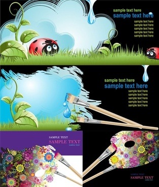 brushes and graffiti vector