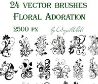brushes Floral Adoration