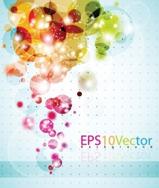 bubble colorful shiny background vector graphics