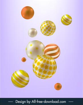 bubbles balls background shiny modern 3d dynamic design