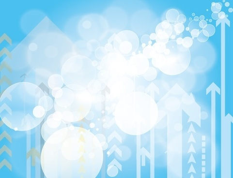 dazzling blue background bokeh bubbles and arrows design