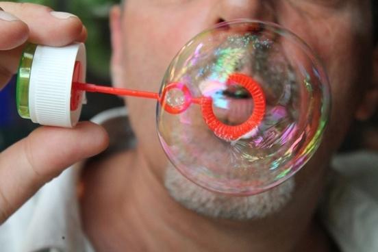 bubbles soap rainbow bubble