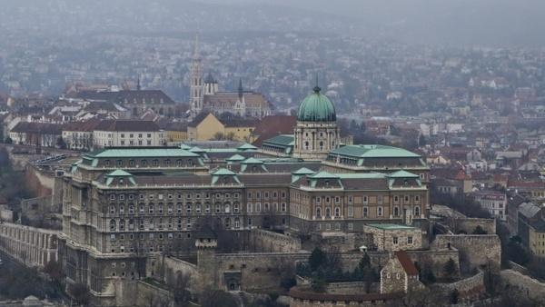 budapest buda castle scape