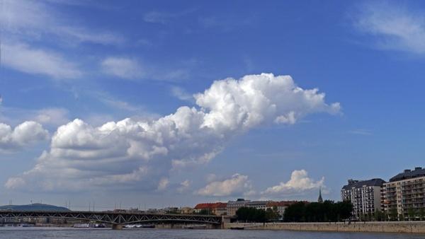 budapest clouds panorama