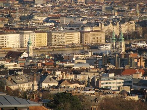 budapest spring panorama