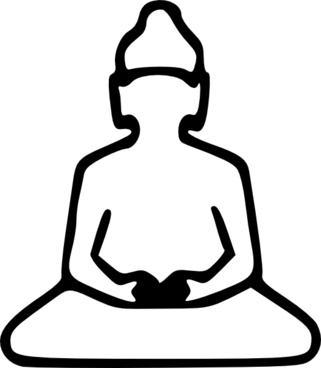 Buddha Outline clip art