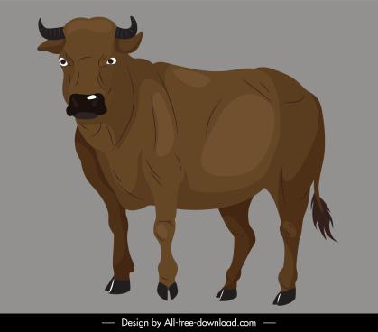 buffalo icon handdrawn cartoon sketch