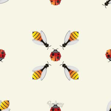 bugs seamless background
