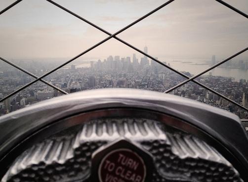 building city haze horizon landscape mesh metal new