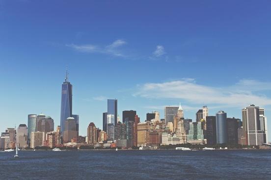 building city manhattan new york ny nyc river sky