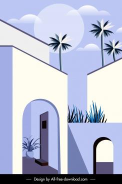 building corner architecture template elegant classical design