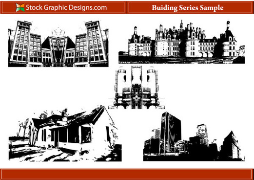 building series silhouettes photoshop brush