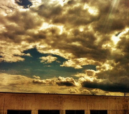 building sky drama