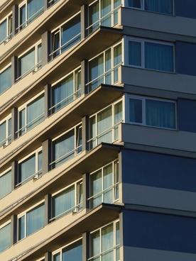 building tall building facade