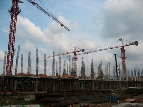 building under construction construction