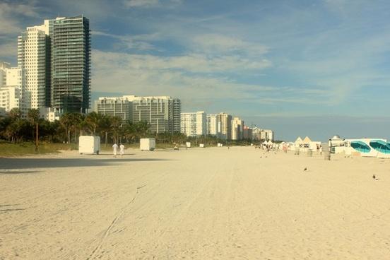 buildings at south beach at miami florida