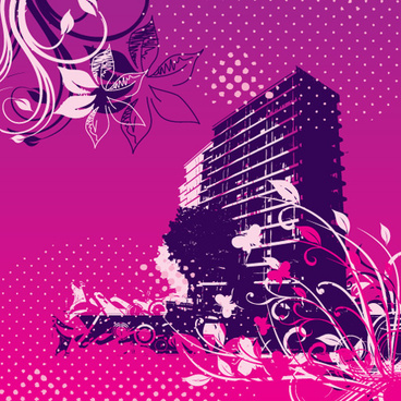 buildings gone wild vector graphic