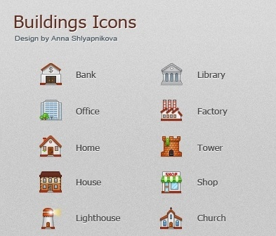 Buildings Icons icons pack