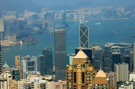 buildings of hong kong china