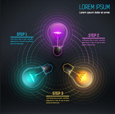 bulb idea black business template vector