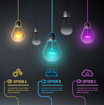 bulb idea black business template vector
