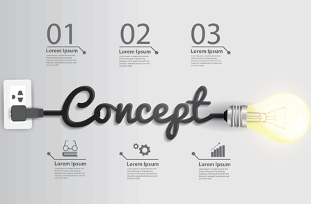 bulb infographic creative template vector