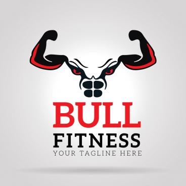bull fitness gym logo
