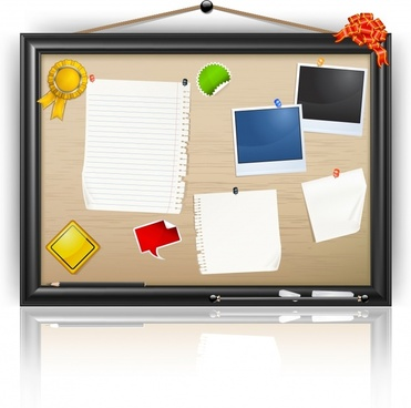 bulletin board background colorful flat modern decor