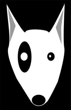 Bullterrier head, bujung,Bull terrier cartoon,dog Bullterrier