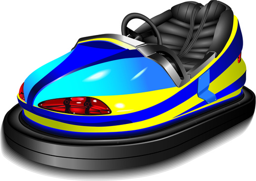 bumper cars isolated
