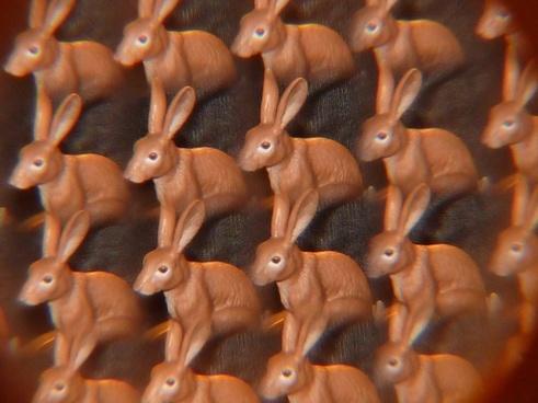 bunny kaleidoscope art