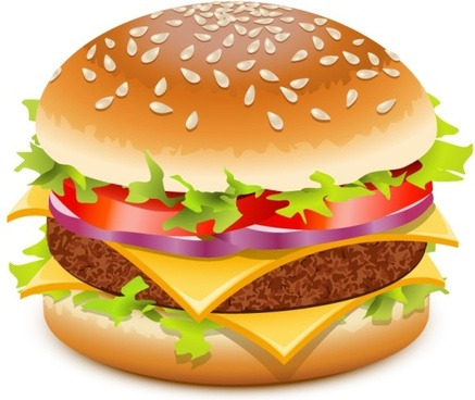 hamburger advertising background multicolored closeup design