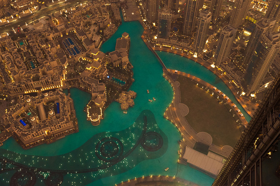 burj khalifa down view