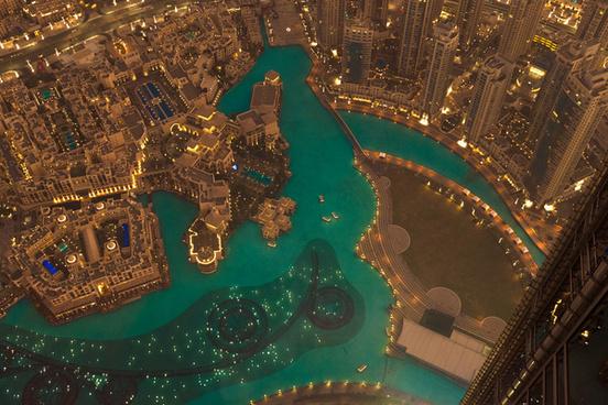 burj khalifa down view