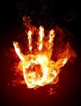 burning palm picture