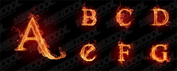 burning the letters of the alphabet picture ag