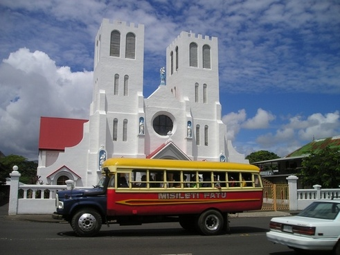 bus church samoa