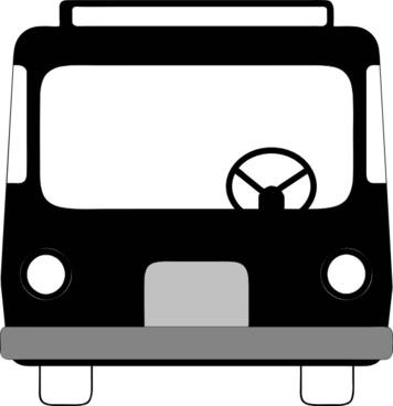 Bus Front View clip art
