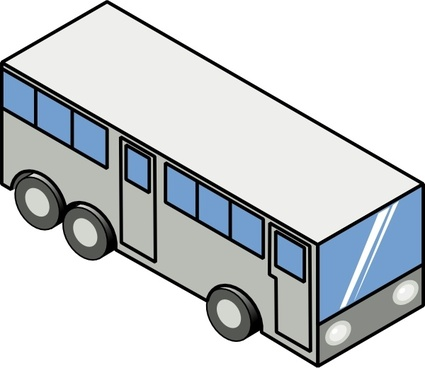 Bus Isometric Icon clip art