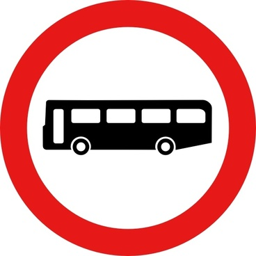 Bus Road Sign clip art