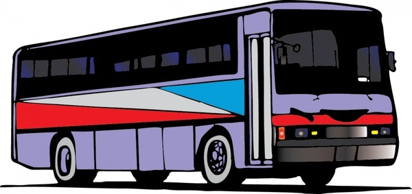 bus icon colored 3d design