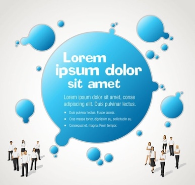 business background poster vector