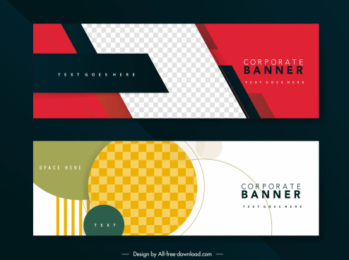 business banner background templates modern abstract checkered decor