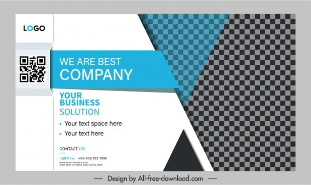 business banner template modern contract design checkered decor